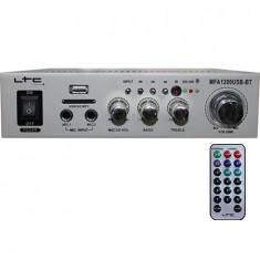 AMPLIFICATOR KARAOKE 2X50W USB/SD/BLUETOOTH ARGINTIU - Echipament karaoke