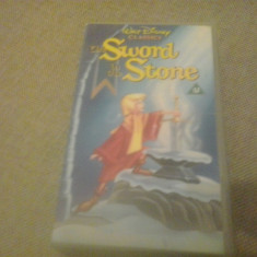 The Sword in the stone - Walt Disney Classics - VHS - Caseta video - Film animatie, Engleza