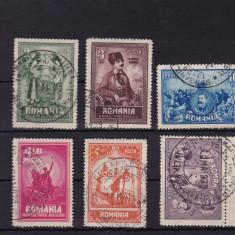 ROMANIA 1929, LP 82, 10 ANI DE LA UNIREA TRANSILVANIEI SERIE STAMPILATA - Timbre Romania