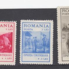 Romania 1931 Expozitia cercetaseasca serie nestampilata cu sarniera - Timbre Romania, Oameni