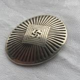 Medalion argint vechi cu simbolul Crucii de Fier vechi folosit de popoare antice