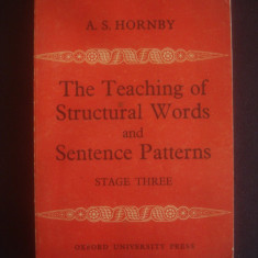 A. S. HORNBY - THE TEACHING OF STRUCTURAL WORDS AND SENTENCE PATTERNS - STAGE 3