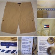 Pantaloni TOMMY HILFIGER (36) scurti bermude cargo casual vintage barbati - Bermude barbati Tommy Hilfiger, Culoare: Din imagine