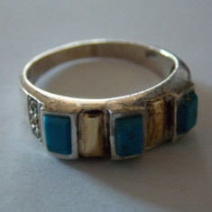 Inel argint si aur 18 k - 459