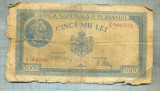 A1201BANCNOTA-ROMANIA-5000 LEI-20 martie1945-SERIA0062301-starea care se vede