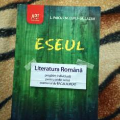 Eseul. Literatura Romana Pentru Bac Proba Scrisa - Teste Bacalaureat art