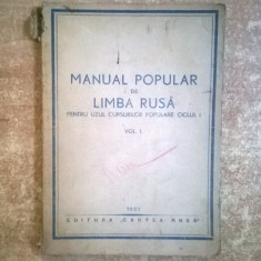 Manual popular de limba rusa vol. I