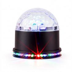 Ibiza OZN ASTRO-BL efect de iluminat cu LED RGB negru - Efecte lumini club