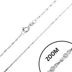 Lanț realizat din argint 925 - linie răsucită, zale unite în spirală, 1, 2 mm - Lantisor argint