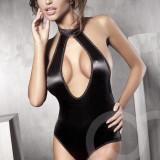 F137 Lenjerie body sexy cu decupaj in zona decolteului - Body dama, Marime: S/M