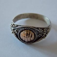 Inel argint si aur - 100