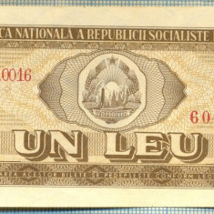A1202 BANCNOTA-ROMANIA(RSR)- 1 LEU- 1966 -SERIA606198 -starea care se vede - Bancnota romaneasca