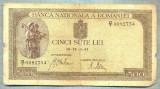 A1298 BANCNOTA-ROMANIA-500 LEI-19-IV-2-(19)41-SERIA0082754-starea care se vede