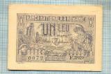 A1207 BANCNOTA-ROMANIA- 1 LEU- 17 IULIE 1920 -SERIA F.3849 -starea care se vede