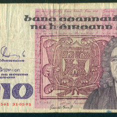 IRLANDA 10 lire 1991 - stare conform foto - bancnota europa, An: 1938