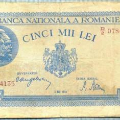 A1274 BANCNOTA-ROMANIA-5000 LEI- 2 MAI 1944-SERIA0784135 -starea care se vede - Bancnota romaneasca