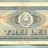 A1242 BANCNOTA-ROMANIA(RSR)- 3 LEI- 1966 -SERIA146892 -starea care se vede - Bancnota romaneasca