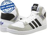 Adidasi barbat Adidas Originals Pro Play 2 - adidasi originali - ghete piele, 40 2/3, Alb, Piele naturala