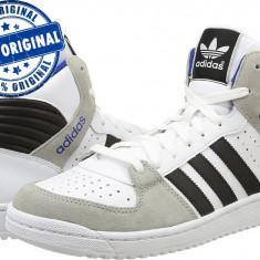 Adidasi barbat Adidas Originals Pro Play 2 - adidasi originali - ghete piele - Ghete barbati Adidas, Marime: 40 2/3, Culoare: Alb, Piele naturala