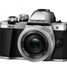 Olympus E-M10 Mark II silver + EZ-M1442EZ silver Pancake - Aparat Foto Mirrorless Olympus