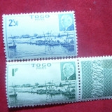 Serie Petain 1941 Togo -Colonie Franceza, 2 val., urma sarniera, Nestampilat