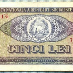 A1233 BANCNOTA-ROMANIA(RSR)- 5 LEI- 1966 -SERIA713737 -starea care se vede - Bancnota romaneasca