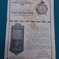 CATALOG 1930 -,, VULTUR,, DEPOZIT GENERAL CERNĂUȚI-CEASORNICE DE BUZUNAR, ETC