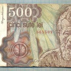 A1266 BANCNOTA-ROMANIA- 500 LEI-APRILIE 1991-SERIA 565507-starea care se vede - Bancnota romaneasca