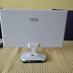 Monitor AOC e2243Fw 21.5 inch 5 ms alb-negru - Monitor LED AOC