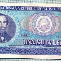 A1262 BANCNOTA-ROMANIA(RSR)- 100 LEI- 1966 -SERIA944337 -starea care se vede - Bancnota romaneasca