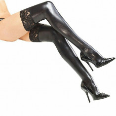 STK210-1 Ciorapi treisfert sexy accesorizati cu dantela - Sosete dama, Marime: M