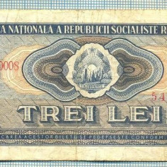 A1243 BANCNOTA-ROMANIA(RSR)- 3 LEI- 1966 -SERIA545752 -starea care se vede - Bancnota romaneasca