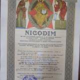 Diploma cu semnatura olografa a vicarului patriarhal Veniamin 31 Mai 1946