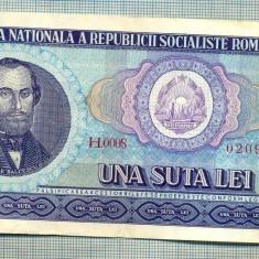 A1263 BANCNOTA-ROMANIA(RSR)- 100 LEI- 1966 -SERIA020992 -starea care se vede - Bancnota romaneasca
