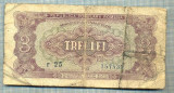 A1217 BANCNOTA-ROMANIA(RPR)- 3 LEI- 1952 -SERIA757539 -starea care se vede