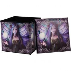 Taburet / cutie depozitare cu zâne Mystic Aura