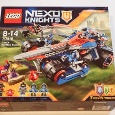 Lego Nexo Knights 70315 Lama Tunet a lui Clay's Rumble Blade Original Sigilat - LEGO Castle
