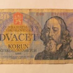 CY - 20 korun (coroane) 1988 Cehoslovacia