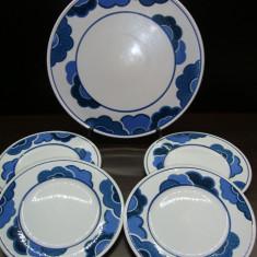 SET / SERVICIU TORT DIN PORTELAN VILLEROY & BOCH BLUE CLOUD FARFURII PLATOU