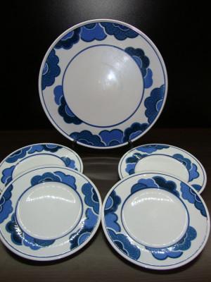 SET / SERVICIU TORT DIN PORTELAN VILLEROY & BOCH BLUE CLOUD FARFURII PLATOU foto