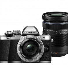 Olympus E-M10 Mark II Double Zoom kit silver - Aparat Foto Mirrorless Olympus