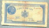 A1301BANCNOTA-ROMANIA-5000 LEI-28SEPTEMVRIE1943-SERIA0463637-starea care se vede