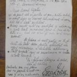 Aron Cotrus, Scrisoare cu semnatura olografa