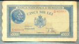 A1273 BANCNOTA-ROMANIA-5000 LEI-15DECEMVRIE1944-SERIA0233315-starea care se vede