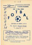 Program meci fotbal FLACARA A. MORENI - PETROLUL PLOIESTI 01.05.1980