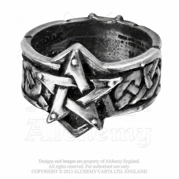 Inel ritualic celtic (Marime inele: W) foto mare