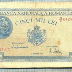 A1275 BANCNOTA-ROMANIA-5000 LEI-10OCTOMVRIE1944-SERIA0424672-starea care se vede - Bancnota romaneasca