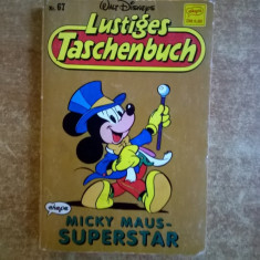 Lustiges Tashenbuch Micky Maus – Superstar - Carte in germana