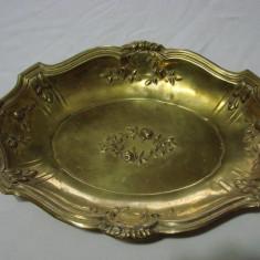 Tava din alama belgiana din perioada de sfarsit de secol 19 - Argint