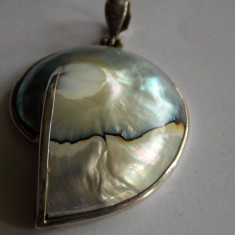 Pandant argint melc cu sidef - 507 - Pandantiv argint